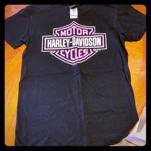 Black/Pink Harley Davidson T Shirt